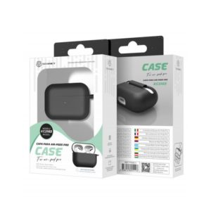 Silicone Cover For Apple AirPods Pro Μαύρη Techancy TF69511