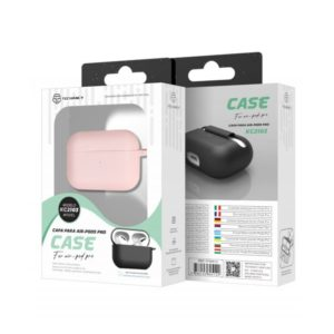 Silicone Cover For Apple AirPods Pro Ρόζ Techancy TF69512