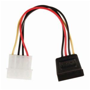 Καλώδιο-αντάπτορας τροφοδοσίας SATA 15-pin θηλ. – Molex αρσ., 0.15m. NEDIS CCGP73500VA015