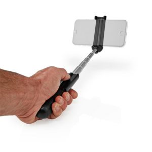 Bluetooth selfie stick με κουμπί λήψης φωτογραφιών. NEDIS SEST201BK