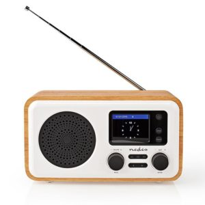 Internet, DAB+ και FM ραδιόφωνο με λειτουργία Bluetooth, σε μοντέρνο και ξύλινο σχεδιασμό, 7W. NEDIS RDIN2000WT