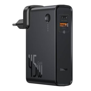 Baseus Power Station (GaN) 2-in-1 QC, C+U (with Type-C cable 60W, 1m) 45W, 10000 mAh Black PPNLD-C01