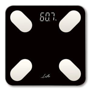 Bluetooth ηλεκτρονική ζυγαριά μπάνιου με δωρεάν application και 12 μετρήσεις. LIFE PETITE