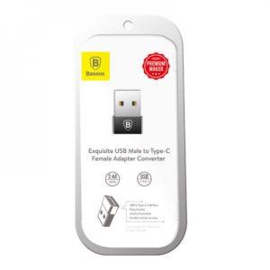 Αντάπτορας USB Male Σε Type-C Female  Μαύρο Baseus CATJQ-A01