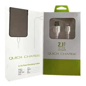 Καλώδιο Fast Charge Lightning 2m Green On LS372
