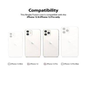 Θήκη Πλαστικό / Bumper Σιλικόνης Διάφανο για iPhone 12/12 Pro Ringke 10660