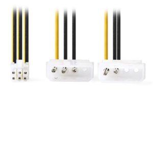 Καλώδιο τροφοδοσίας 2x Molex 4-pin σε PCI Express 6-pin, 0.15m. NEDIS CCGP74210VA015