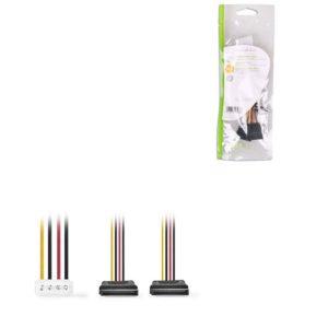 Καλώδιο-αντάπτορας τροφοδοσίας Molex αρσ.- 2x SATA 15-pin θηλ., 0.15 m CCGP73520VA015