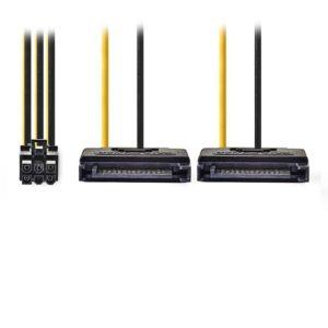 Καλώδιο-splitter τροφοδοσίας PCI Express θηλ. σε 2x SATA 15 pin, 0.15m. CCGP74205VA015