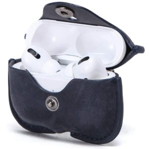 Airpods Pro Protective leather Case Blue