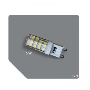 Λαμπτήρας LED G9, 5W, με χρωματισμό ψυχρό λευκό 460 lumen COM