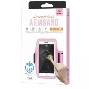 Large Smartphone Running Armband Pink Techancy TF 66013
