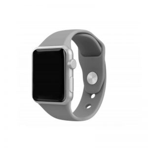 Silicone Bracelet for Apple Watch 38-40mm Γκρί Techancy TF69537