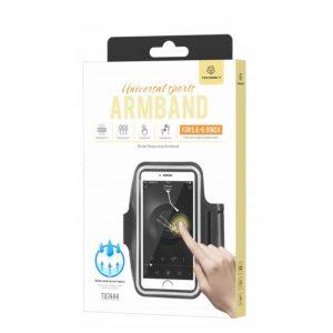 Large Smartphone Running Armband Black Techancy TF66011