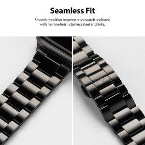 Ringke Apple Watchband 42 mm/44 mm, Metal One Stainless Steel, Black
