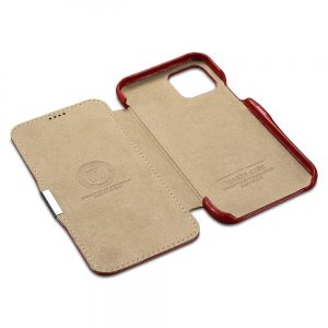 iCarer iPhone 11 Pro (5.8) Case Vintage Series Side-open Red