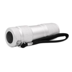 Αλουμινένιος mini φακός LED 30 lm σε ασημί χρώμα. SONORA SILVER VERTEX