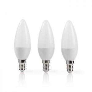 Λάμπα LED, Ε14, Candle, 5.8W, θερμό λευκό φως και 470 lumen, σε συσκευασία 3 τεμαχίων.