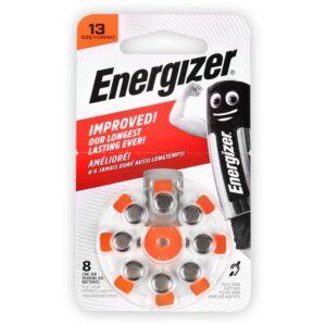 Μπαταρία ακουστικών βαρηκοΐας ZA13, 1.4V ENERGIZER ZINC AIR 13-8P/8ΤΕΜ