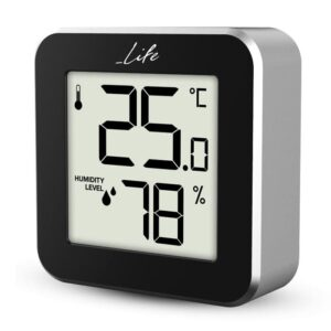 Ψηφιακό θερμόμετρο και υγρόμετρο εσωτερικού χώρου LIFE Alu Mini