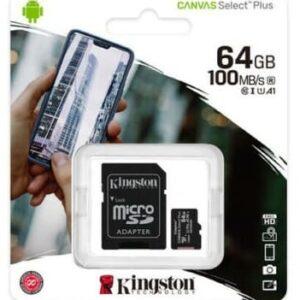 Kingston Micro SD Class 10 64GB SDCS2 Micro